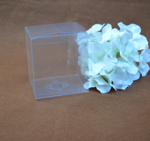 Joy 3*3*3cm Clear Plastic PVC boxes favors, Plastic packaging boxes,transparent packing box