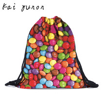 kai yunon Fashion Unisex colorful stone Backpacks 3D Printing Bags Drawstring  fresh and unique Backpack Sep 20