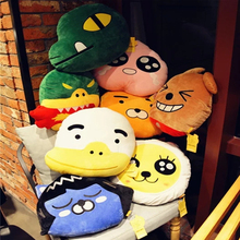 1pcs 40cm Korea cartoon plush pillow kakao friends neo tube con muzi peach RYAN Funny stuffed toys pillow cushions birthday gift