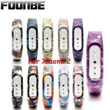 Fonnbe For Mi Band 2 Silicone 15 colors Strap for Xiaomi Wristband for Mi band 2 Bracelet Band(China)