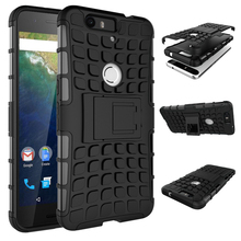 Armour phone case Huawei Nexus 6P Case Armor Heavy Duty Hybrid Rugged TPU Impact Kickstand Hard Cover ShockProof