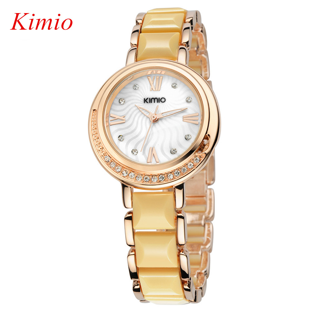 Top watch women watch New Fashion Quartz Watch Rose Gold  Brand Luxury Crystal Diamonds Ceramic Wrist Watches For Women Reloj<br><br>Aliexpress