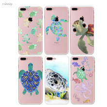 2017 New Arrive Sea turtle Phone Cases Cover for iPhone 6 6s 5 5s se 7 7plus Case Design Transparent Soft TPU Case