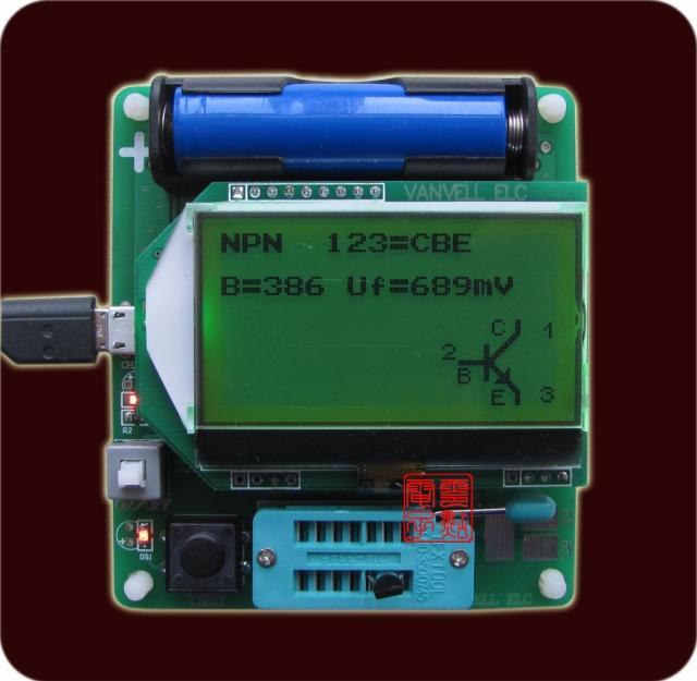 - large screen M8 transistor tester upgrade M328 version ESR inductance capacitance meter multifunctional tester DIY<br>