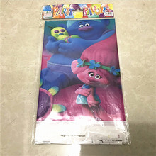5pc 180*108cm Trolls Cartoon Theme Tablecover Table Cover Plastic Tablecloth Nursery Birthday Party Supplies
