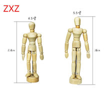 3Type NEW Artist Movable Limbs Wooden Kid Toy Human Figure Model Mannequin bjd Art Sketch Draw Action Toy Figures Gift
