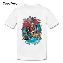 Cistmas Knight T Shirt Kids Pure Cotton Short Sleeve Round Neck Tshirt Children Costume 2017 Customized T-shirt For Boys Girls