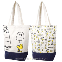 Cute Snoopie Cartoon Dogs Large-capacity Canvas shopping Bag Female Women portable Storage bags 22.5*12*38.5CM Christmas gift