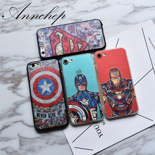 Fashon Superman Captain America Iron-man cover case for iphone 6 6s plus 7 7 Plus coque capa fundas For iphone 6 5s SE cases