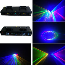 Quad 800mW RGYB Red+Green+Yellow+Blue DMX512 DJ Laser Lighting Disco Lights pub Light(China)