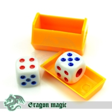 Talking Dice Magic Tricks Free Shipping Magia Trick Toys Child Easy Close up Fun Magie(China)