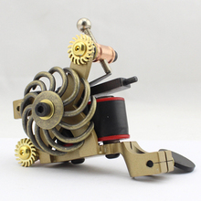 Professional Handmade Tattoo Machine 10-Wrap Coils Iron Cast Frame Custom Tattoo Gun For Liner Shader Free Shipping TM-816(China)