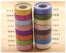 Washi Gilding Tape Glitter Washi Sticky Tape Scrapbooking DIY Decorative Adhesive Tape Gift Packing Tape Notebook Decor Sticker