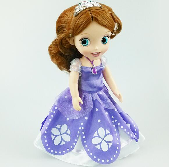 2016 Hot My little cute Sofia the First princess Bobbi doll Beautiful VINYL toy girl Doll For Kids Best Gift<br><br>Aliexpress
