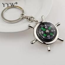 YYW Exquisite Compass Key Chain Metal Key Rings For Gift Compass Pattern Keychain Multi-function Jewelry Gift Key Holder 2017
