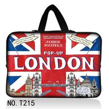 "UK Flag London 17"" 17.3"" 17.4"" Soft Neoprene Netbook Laptop Carry Sleeve Bag Case Pouch Cover For Hp/Samsung/Sony/ASUS/Acer"