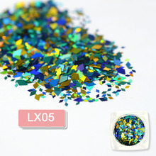 12 Designs Rhombus 3D Nail Art Paillette Sticker Tips Mixed 2mm/4mm Diamond Colorful Slice Sequin DIY Decorations CHLX01-12