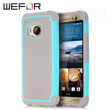 For Htc One M9 Case,WEFOR Hybrid Dual Layer Protective Case Cover with Hard Plastic and Soft Silicone for Htc One M9(China)