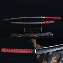 handmade katana samurai japanese sword katana real katana swords for sale carbon steel sharp black full tang swords Shark skin
