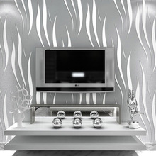 Modern Solid Curve Pattern Wallpaper 3D Mural Wall Decals Fresh Textile Non-woven Bedroom Wallpapers Sofa Wall Paper QZ072