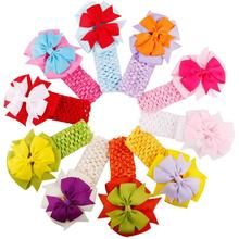 Girls Headbands Bowknot kids Hair Accessories Girls Hair Band Accessories for Hair claw Cloth flower 0-5Y head adornment