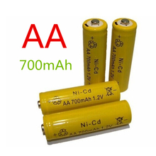 1pcs High Quality 14500 Rechargeable AA Battery 1.2V 700mAh Ni-CD 2A Neutral Battery for RC Controller Toys Electronic Etc.