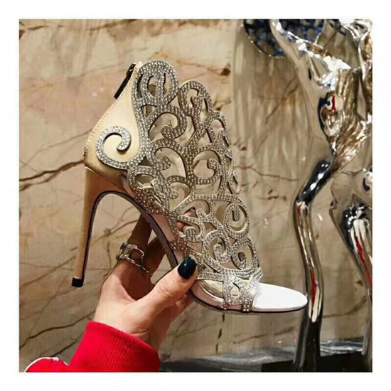 Hot Sexy Crystal Cage Summer Women Boots Cut Out Gladiator Sandals Boots High Heels Ankle Boots Shoes Woman Bootie Botas Mujer (8)