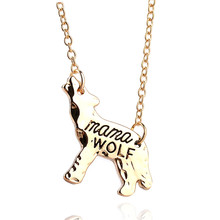 SkyAngel Wholesale Pet Jewelry Animal long Necklace for Women Creative Mama Wolf Letter pendant Necklaces Chain Christmas Gift(China)
