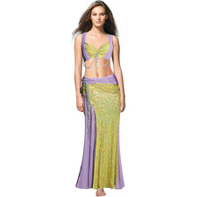 2017 New Sexy Fashion Belly dance Practice wear Bellydance Practice set costume dance clothes clothing top& Pants 7142
