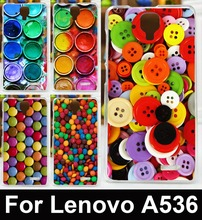 AKABEILA Paintbox Chocolate Candies Cell Phone Cases For Lenovo A536 Covers A358T A 536 Bag Flexible Silicon Shell Hood Skin