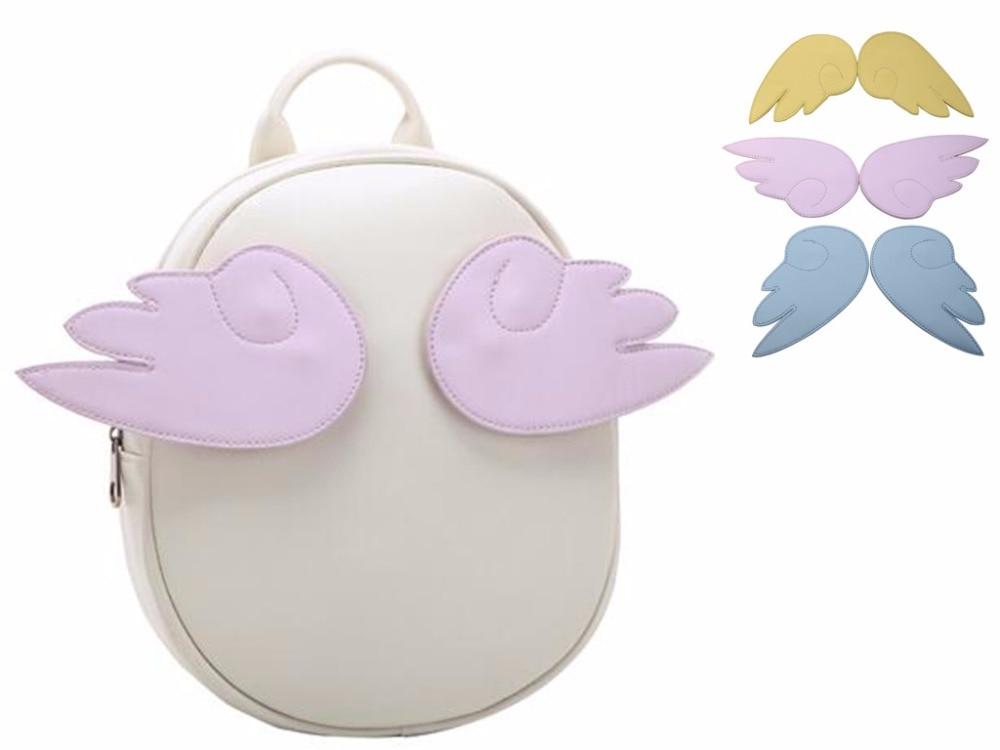 Japan Card Captor Sakura Bag Cartoon Anime Lolita PU Leather Bag Backpack With three colors Wing For Girls Angel<br><br>Aliexpress