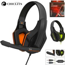 2017 Top Game Headphones Professional Headset Super Bass Over-ear Gaming with Microphone Stereo Headphones for Gamer PC Computer