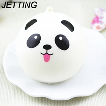 JETTING Wholesale Cute Cartoon Face Squishy Buns Panda Bag Key Mobile Phone Straps Pendant 4cm Chain Cellphone Hot Sale