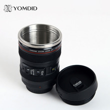stainless steel SLR Camera EF24-105mm Coffee Lens Mug 1:1 scale caniam coffee mug 100% with CANON logo creative gift(China)
