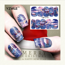 YZWLE 1 Sheet Christmas Design DIY Decals Nails Art Water Transfer Printing Stickers Accessories For Manicure Salon (YZW-2141)(China)