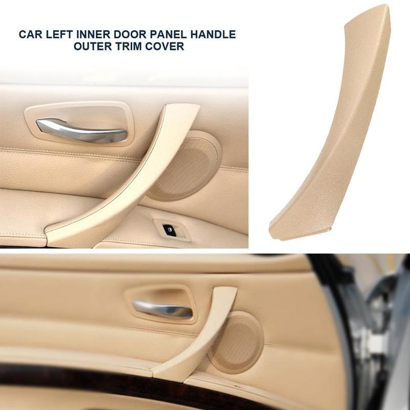 Interior Inside Door Handle Painted Silver Lever Beige Knob Left Driver Side