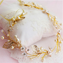 2017 New  Goddess Leaf Branch Dainty Hair Crown Head Dress Boho Alice Band Bridal Jewelry free shipping