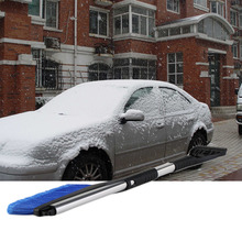 60CM Length Car ABS Retractable Winter Vehicle Scraper Shovel Snow Removal Brush Rubber Wiper Blades Remove Clean Tool