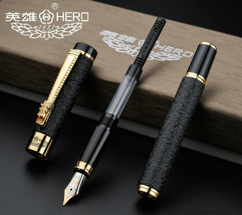 Authentic Hero 6006  metal calligraphy pen art fountain pen iraurita ink pen 0.5mm /1.0mm gift box set free shipping <br><br>Aliexpress