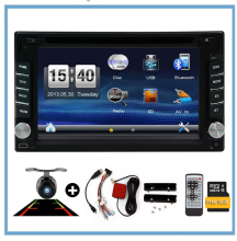 2 din Car autoradio 2 din Car PC DVD Player GPS Navigation In dash Car dvd gps Stereo video with Free Rear view Camera Free Map(China)