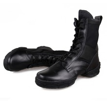 Free Shipping Black High-Top Leather Dance Sneakers  Jazz  Zapatos De Dance Zapatilla De Deporte
