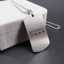 New Battlefield 1 BF1 Necklaces Bullet Aim rescue Logo Stainless Steel Pendant Fashion Jewelry Great Gift for fans High Quality(China)