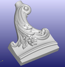 3D STL model for CNC Router mill relief carving design furniture sofa bed part pattern 302