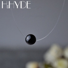 Buy H:HYDE 2017 New Fashion Handwork Necklace Invisible Transparent Fishing Line Cinnabar Moles Pendant Necklace Chain Jewelry for $1.05 in AliExpress store