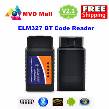 V2.1 SUPER MINI ELM327 Bluetooth OBD2 Car Diagnostic Interface Mini ELM 327 V 2.1 On Android Torque Wireless OBD II 2 Scan Tool
