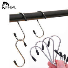 FHEAL 4 pcs/Set Simple Practical Hooks Stainless Steel Kitchen Hanger Hooks Clasp Holder(China)