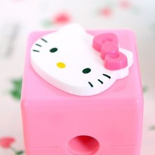 1pc 2016 Hot kawaii Hello Kitty Mini Cartoon Shape Mechanical Pencil Sharpener Knife Papeleria Sacapuntas Office School Supplies
