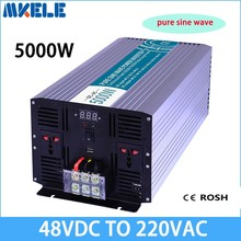 MKP5000-482 48vdc to 220vac pure sine wave 5000w voltage converter,solar inverter LED Display inversor(China)