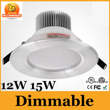 CE&UL Quality 12W 15W Dimmable LED Downlight Fixture Recessed Light Warm Cool White With Power Driver Down Light 5Year Warranty