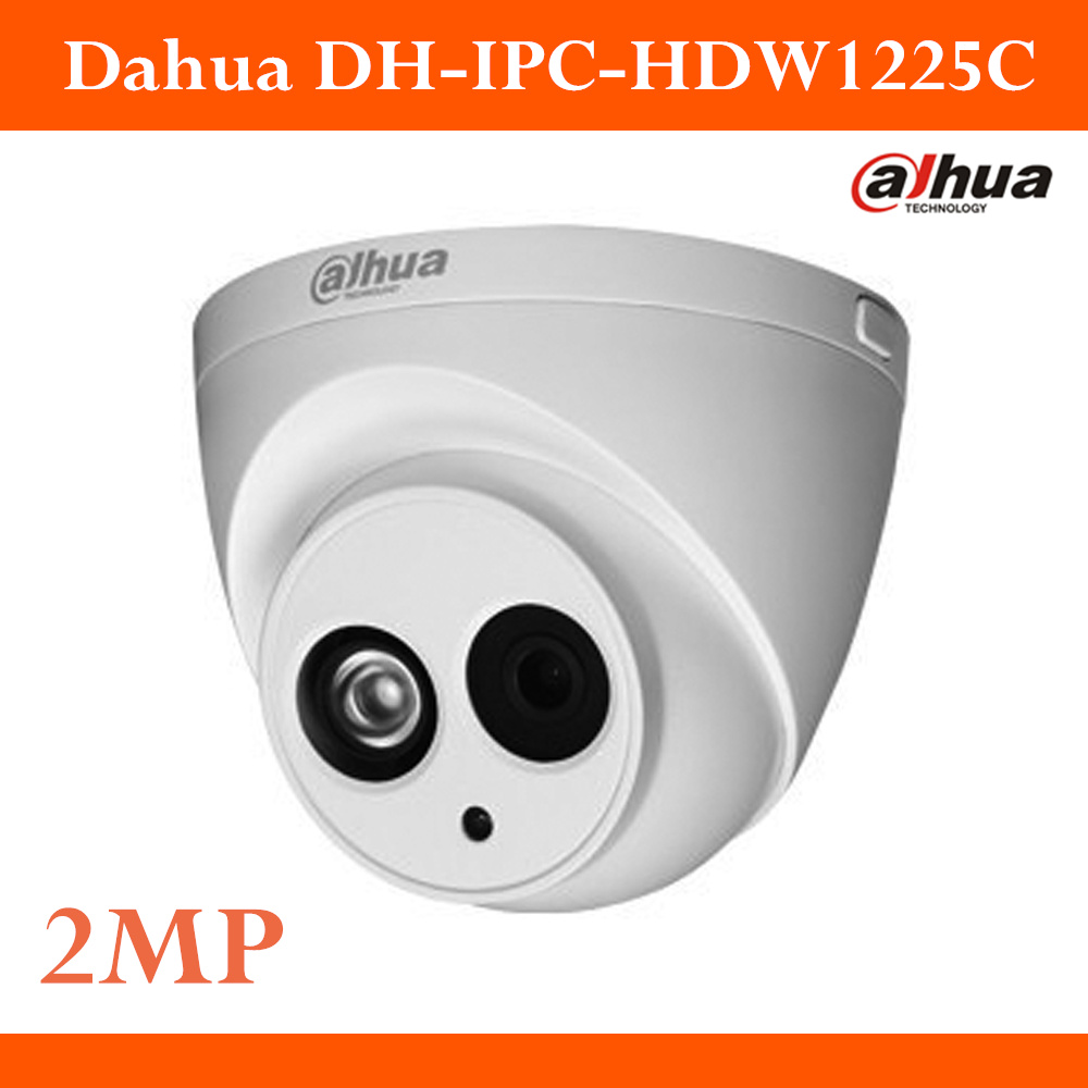 New Arrival Dahua DH-IPC-HDW1225C IR HD 1080P Security 2MP H.264 IP Camera IP67 Surveillance Network Dome Camera Support  Onvif<br>